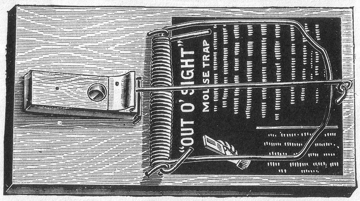 Spring-Loaded Bar Trap, William C. Hooker Design, 19th C. - Croach Rodent Pest Control