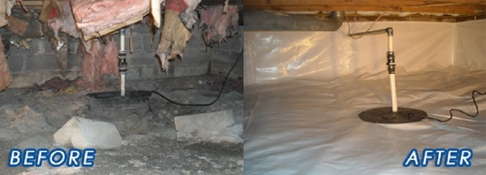 Crawl Space Insulation - Croach - Kirkland, WA - Before and After